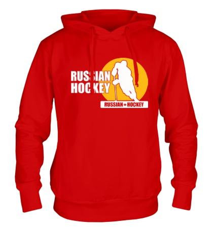 Толстовка с капюшоном Russian Red Hockey