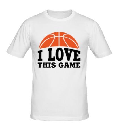 Мужская футболка I love this Basketball