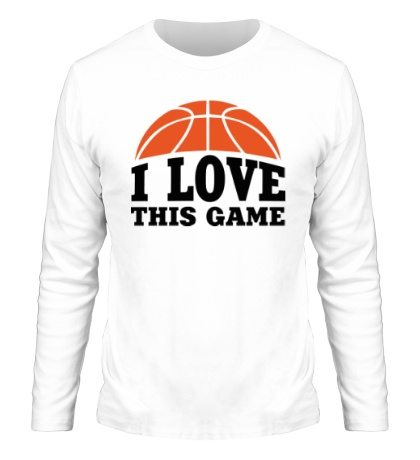 Мужской лонгслив I love this Basketball
