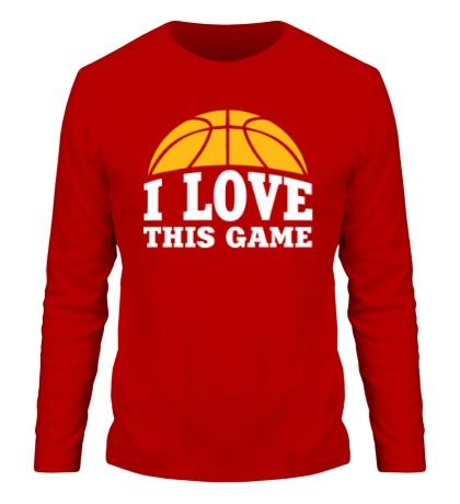 Мужской лонгслив I love this Basketball