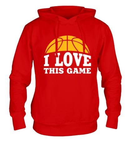 Толстовка с капюшоном I love this Basketball