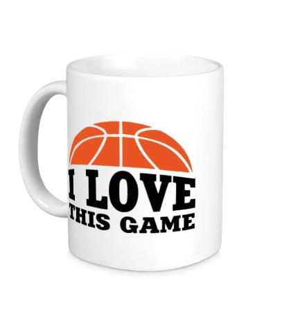 Керамическая кружка I love this Basketball