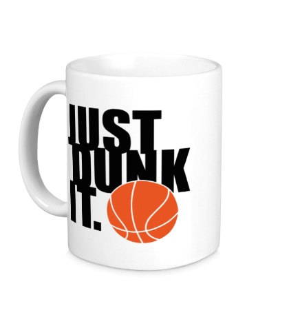 Керамическая кружка Just dunk it Basketball
