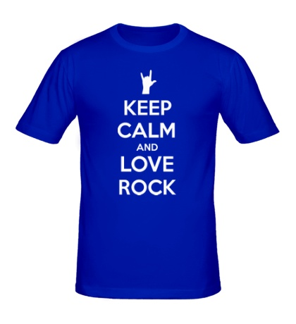 Мужская футболка Keep calm and love rock