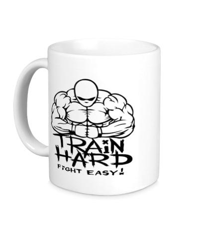 Керамическая кружка Train hard, fight easy