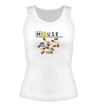 Женская майка House MD: Smile Pills