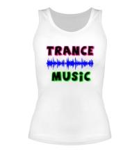 Женская майка Trance music