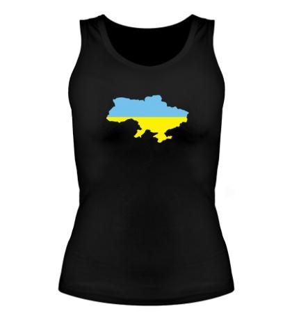 Женская майка Карта Украины