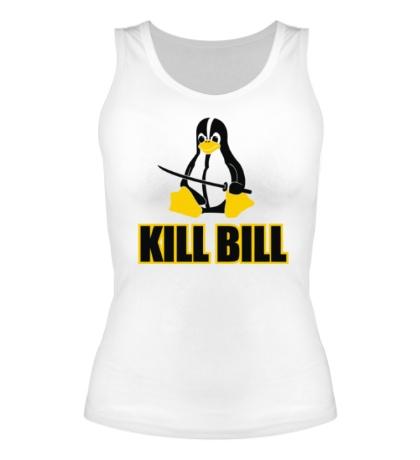 Женская майка Linux kill Bill