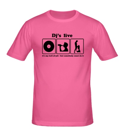 Мужская футболка «Djs live»