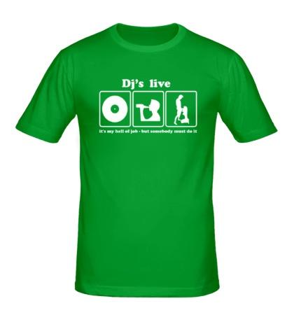 Мужская футболка Djs live