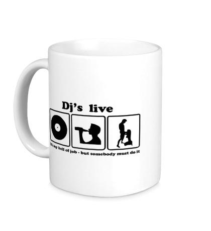 Керамическая кружка «Djs live»