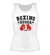 Женская майка Boxing Russia Time
