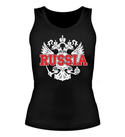 Женская майка Герб Russia
