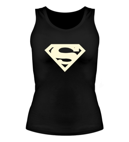 Женская майка Супермен, свет