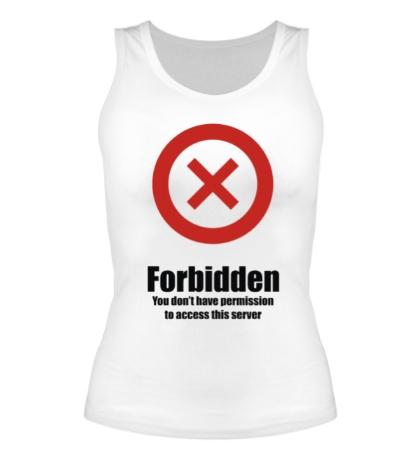 Женская майка Forbidden
