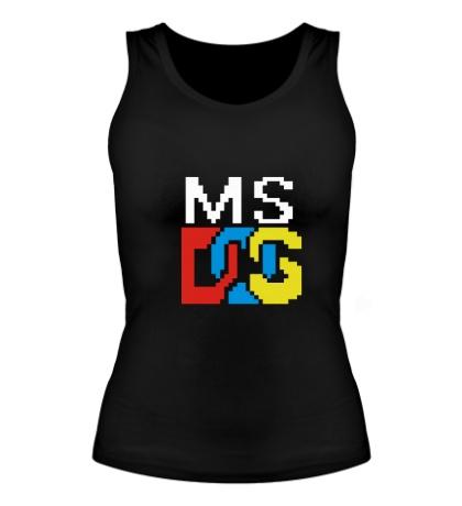 Женская майка MS DOS