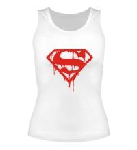 Женская майка Кровавый супермен