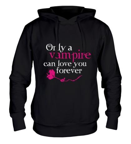 Толстовка с капюшоном Vampire love forever