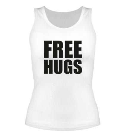 Женская майка Free hugs