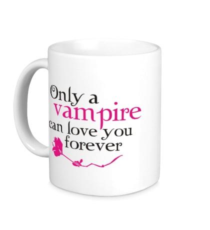 Керамическая кружка Vampire love forever
