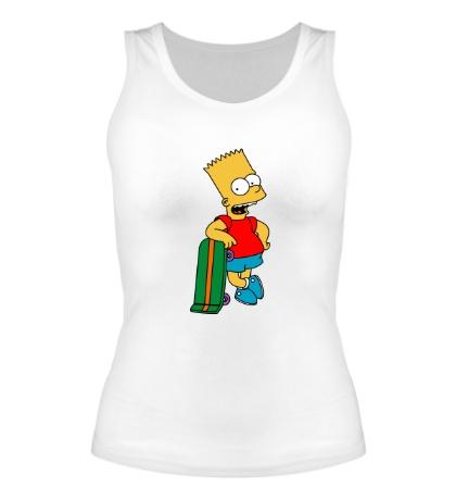 Женская майка Барт со скейтом