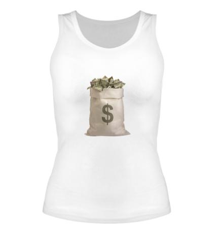 Женская майка Мешок с деньгами