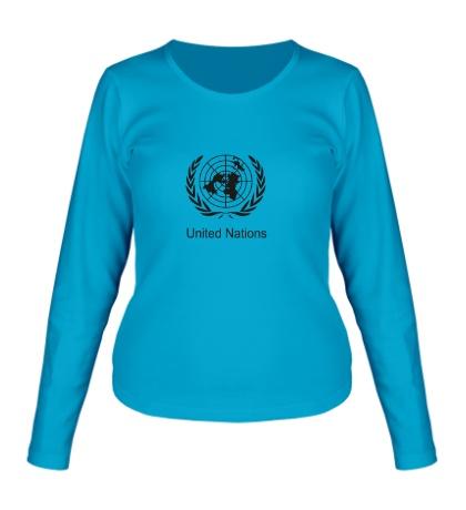 Женский лонгслив Эмблема ООН