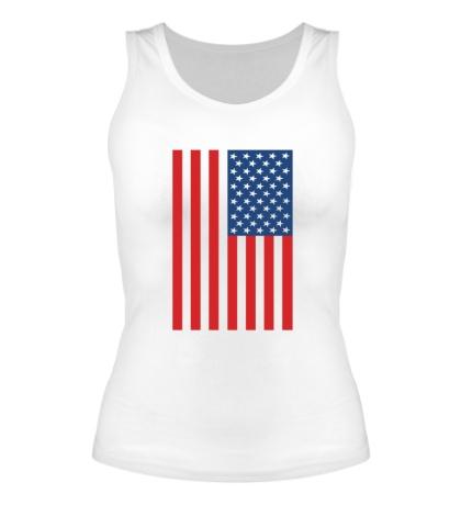 Женская майка Американский флаг