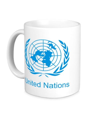 Керамическая кружка Эмблема ООН