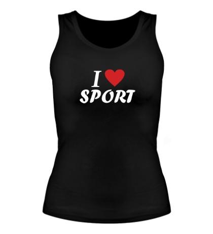 Женская майка I love sport