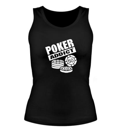 Женская майка Poker addict