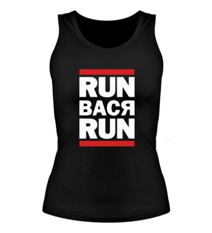 Женская майка Run Вася Run