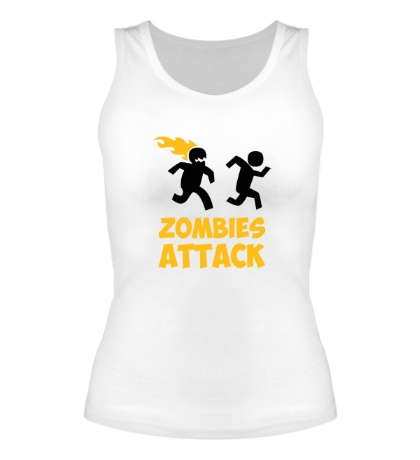 Женская майка Zombies Attack