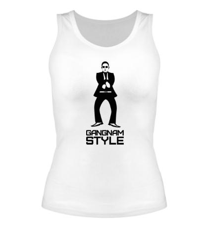 Женская майка Gangnam style dancing