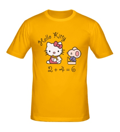 Мужская футболка Китти с мышем