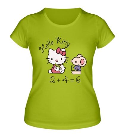 Женская футболка Китти с мышем