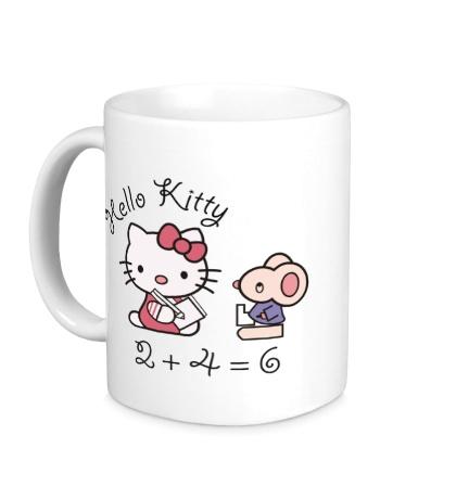 Керамическая кружка Китти с мышем
