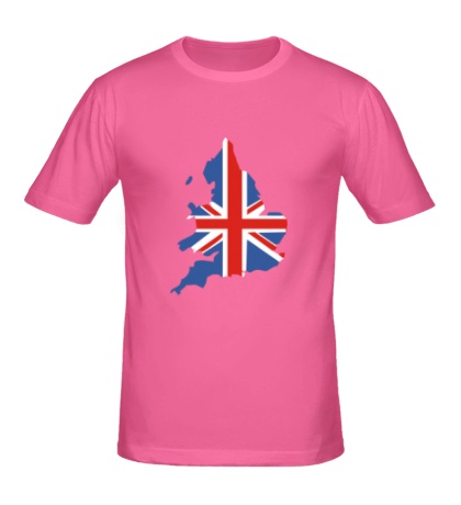Мужская футболка Карта Англии