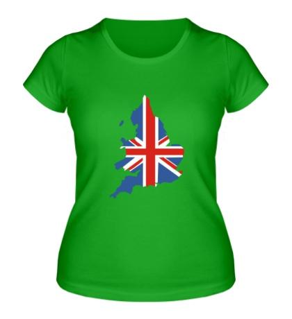Женская футболка Карта Англии