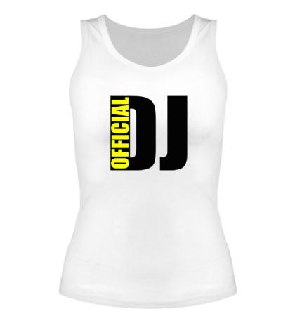 Женская майка Official DJ
