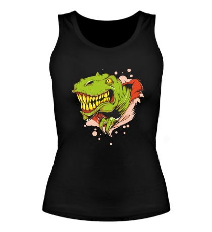 Женская майка Голова тираннозавра