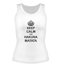 Женская майка Keep calm and hakuna matata