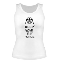 Женская майка Keep calm and use the force