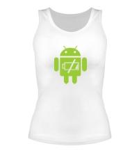 Женская майка Android Battery