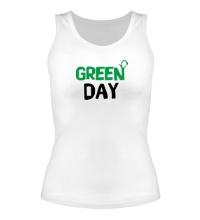 Женская майка Vegan green day