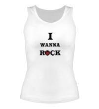 Женская майка I wanna rock