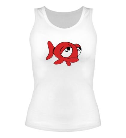 Женская майка Грустная рыба