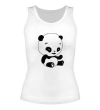 Женская майка Панда смеется