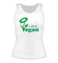 Женская майка I am a vegan